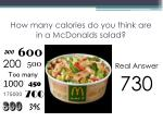 how many calories do you think are in a mcdonalds salad
