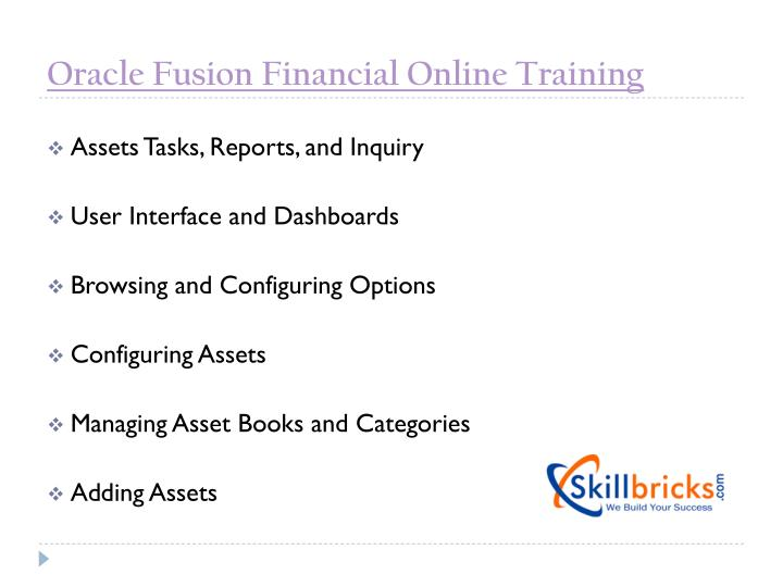 Oracle Fusion Financial Online Training