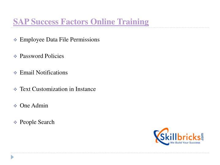 SAP Success Factors Online Training