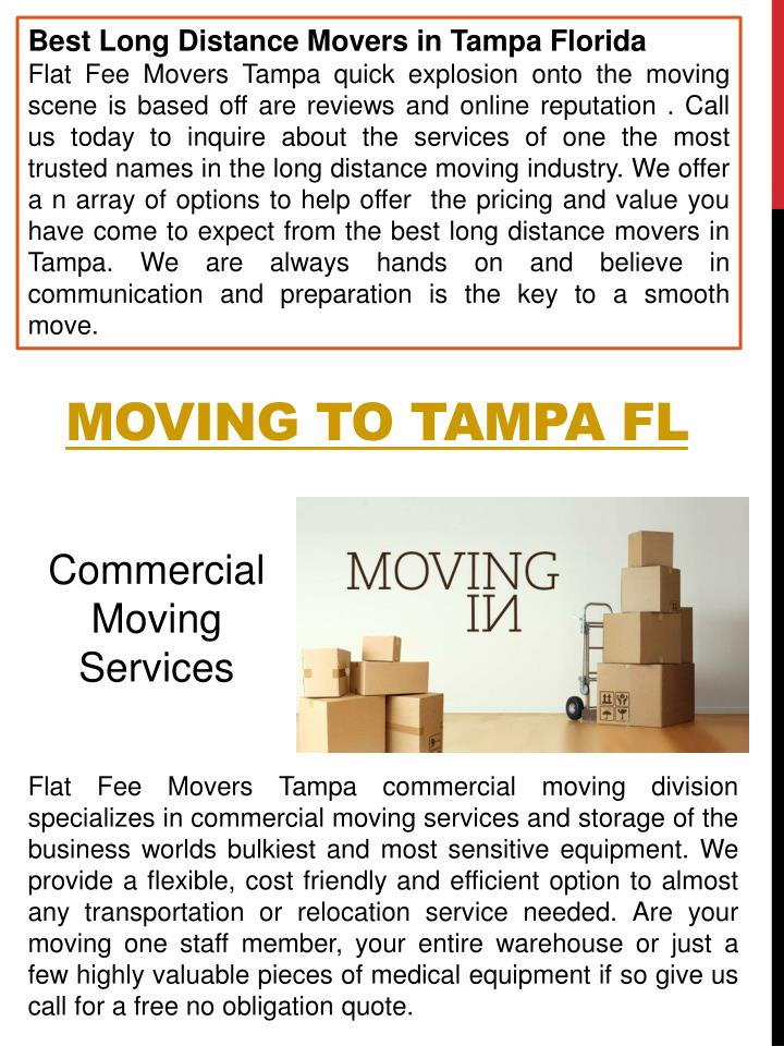 Best Long Distance Movers in Tampa Florida