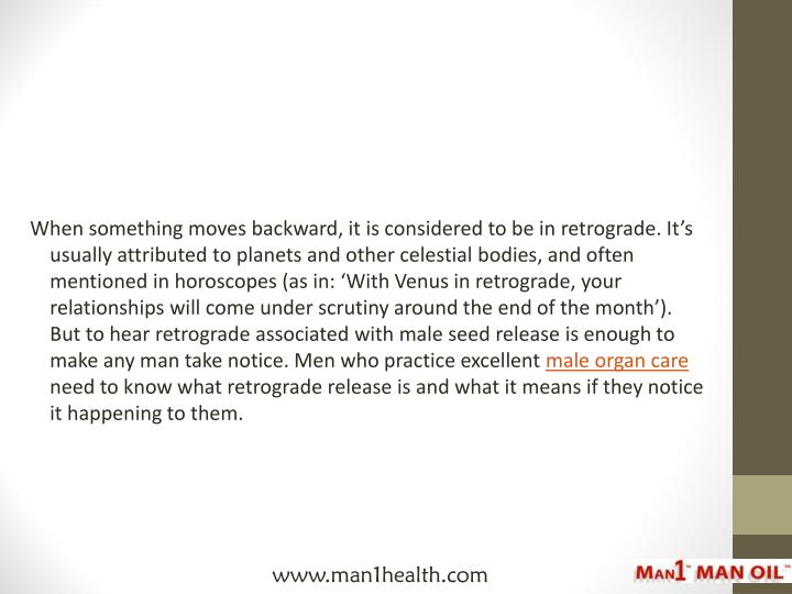 When something moves backward, it is considered to be in retrograde. It's usually attributed to pl...