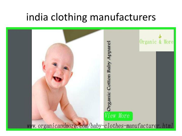 India clothing manufacturers