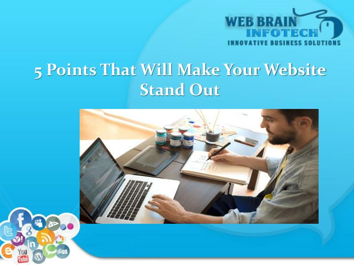 5 points that will make your website stand out