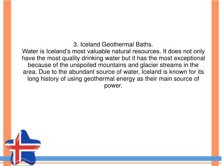 3. Iceland Geothermal Baths.
