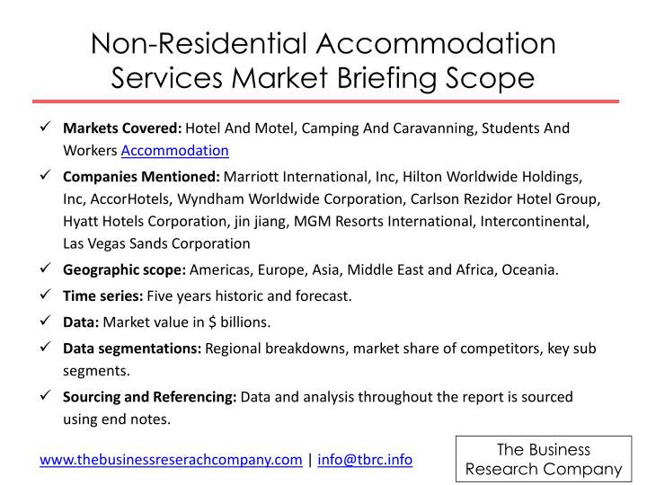 Non-Residential Accommodation Services Market Briefing