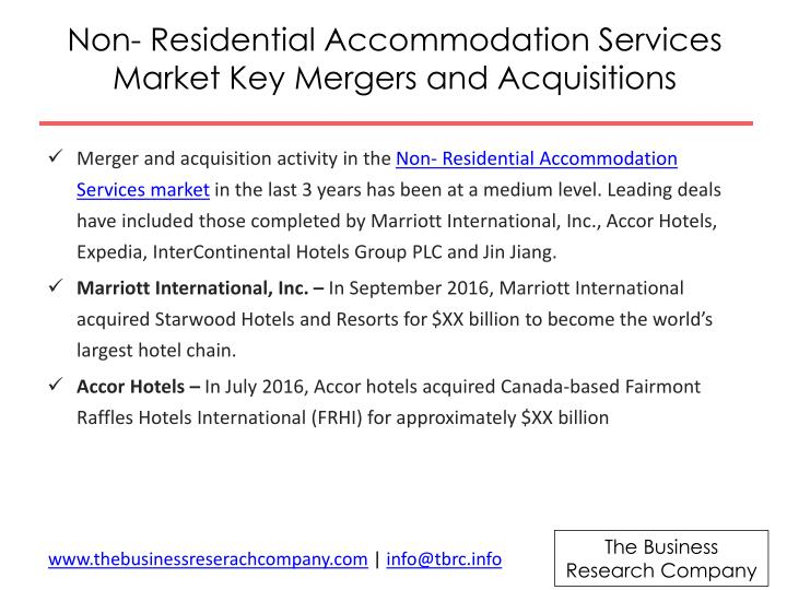 Non- Residential Accommodation Services Market