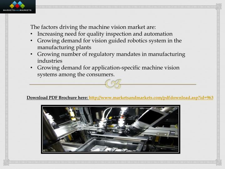 The factors driving the machine vision market