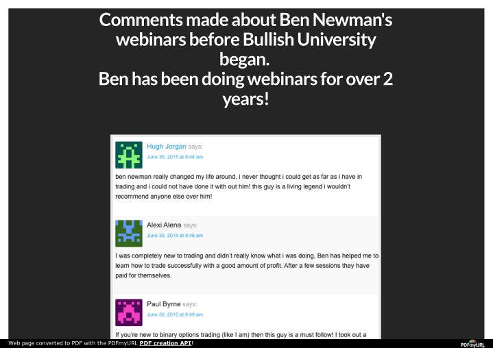 Comments made about Ben Newman's