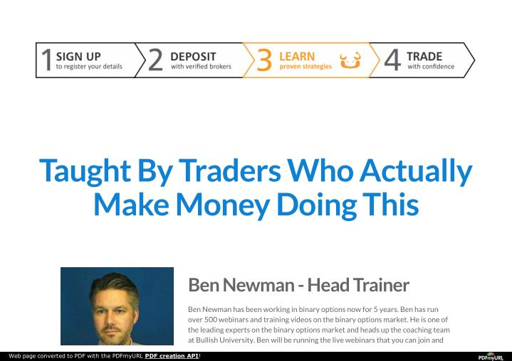 Taught By Traders Who Actually
