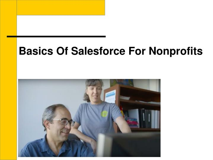 Basics Of Salesforce For Nonprofits