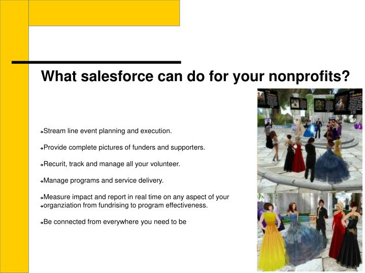 What salesforce can do for your nonprofits?