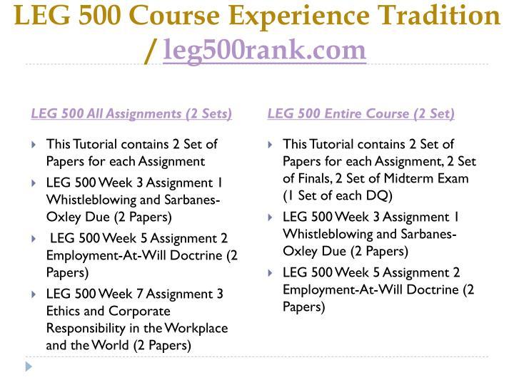 Leg 500 course experience tradition leg500rank com1