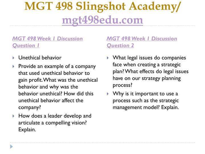 Mgt 498 slingshot academy mgt498edu com2