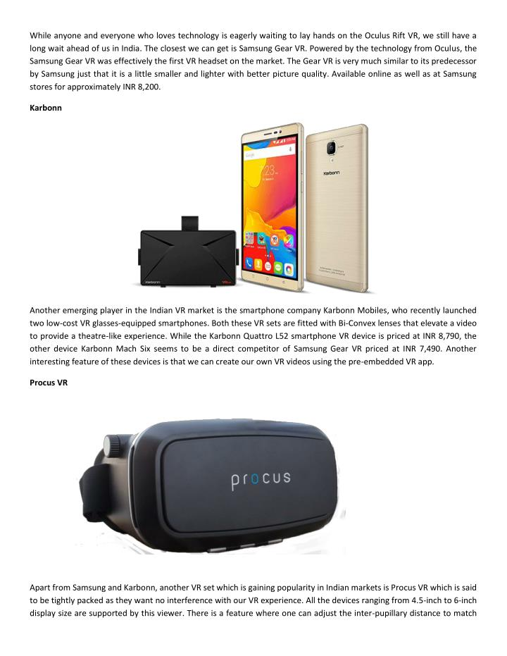 While anyone and everyone who loves technology is eagerly waiting to lay hands on the Oculus Rift VR...