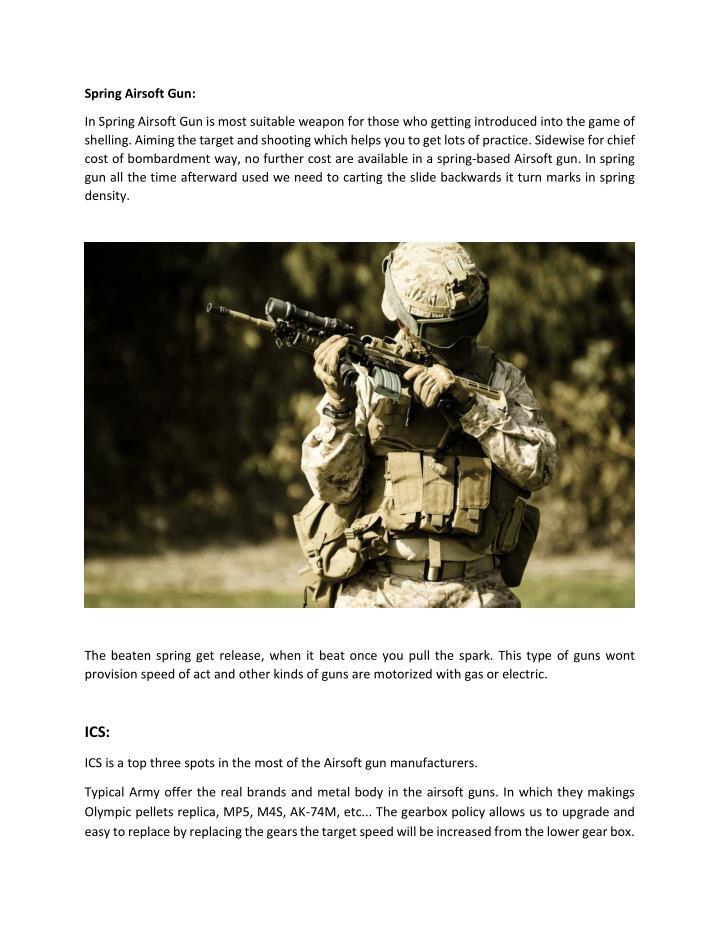 Spring Airsoft Gun: