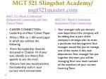 mgt 521 slingshot academy mgt521master com19
