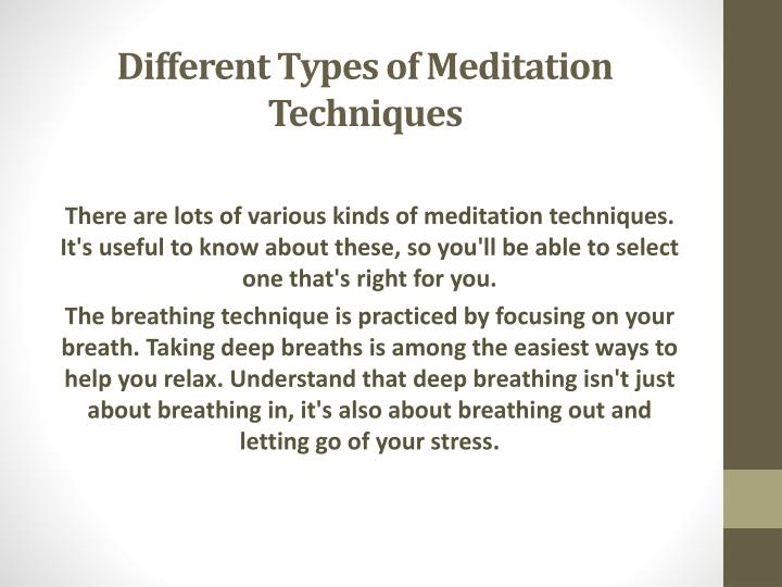 Different types of meditation techniques