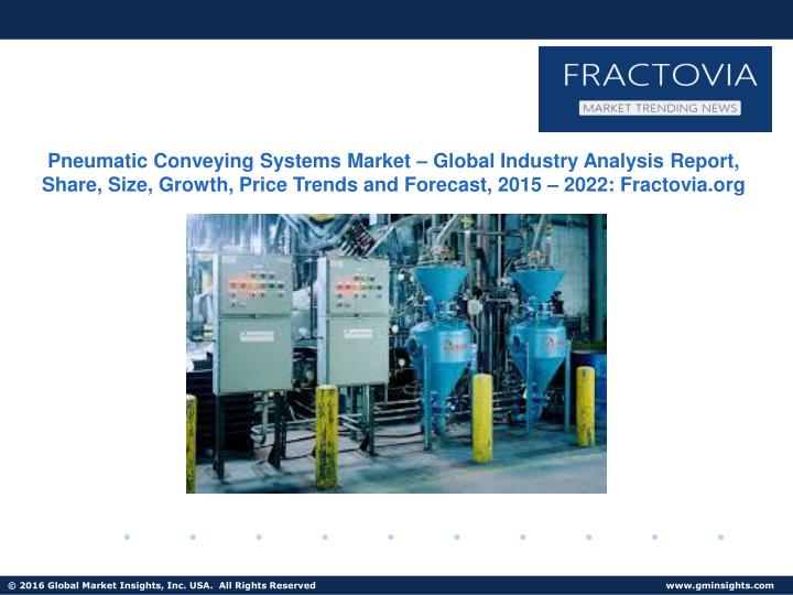 Pneumatic Conveying Systems Market – Global Industry Analysis Report, Share, Size, Growth, Price T...