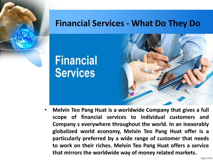 Financial services what do they do