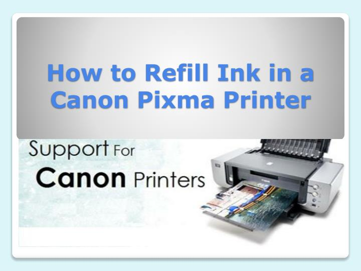 how to refill ink in a canon pixma printer n.