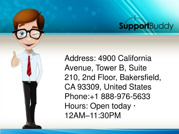 Address: 4900 California Avenue, Tower B, Suite 210, 2nd Floor, Bakersfield, CA 93309, United States