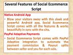 several features of social ecommerce script