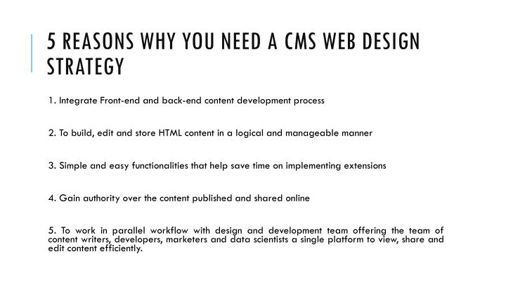 5 reasons why you need a cms web design strategy