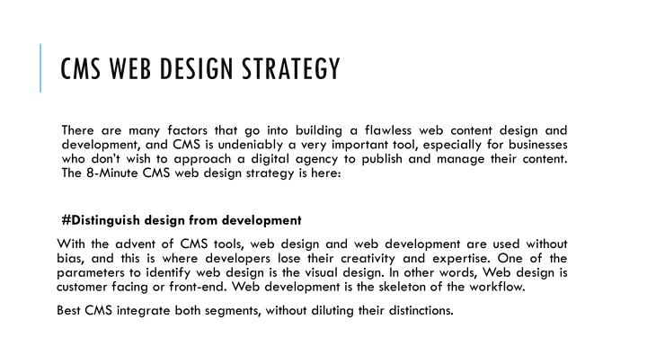CMS Web Design Strategy