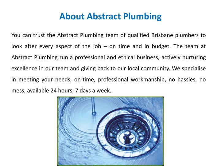 About abstract plumbing
