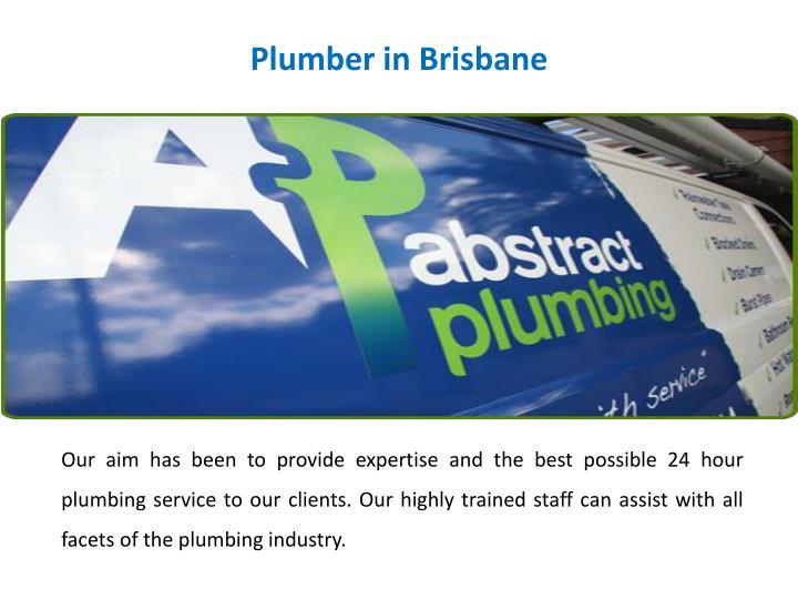 Plumber in Brisbane