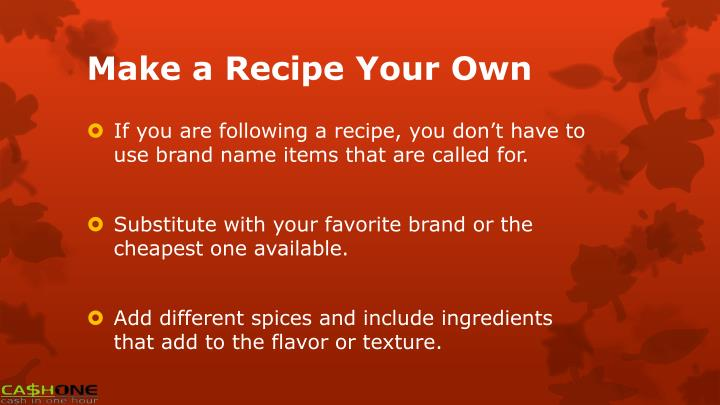 Make a Recipe Your Own