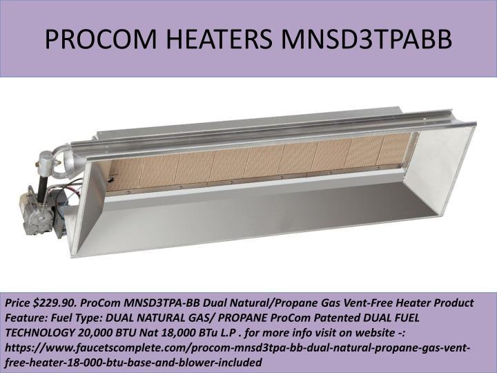 Procom heaters mnsd3tpabb