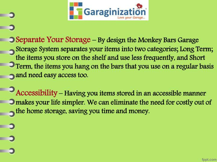 Separate Your Storage