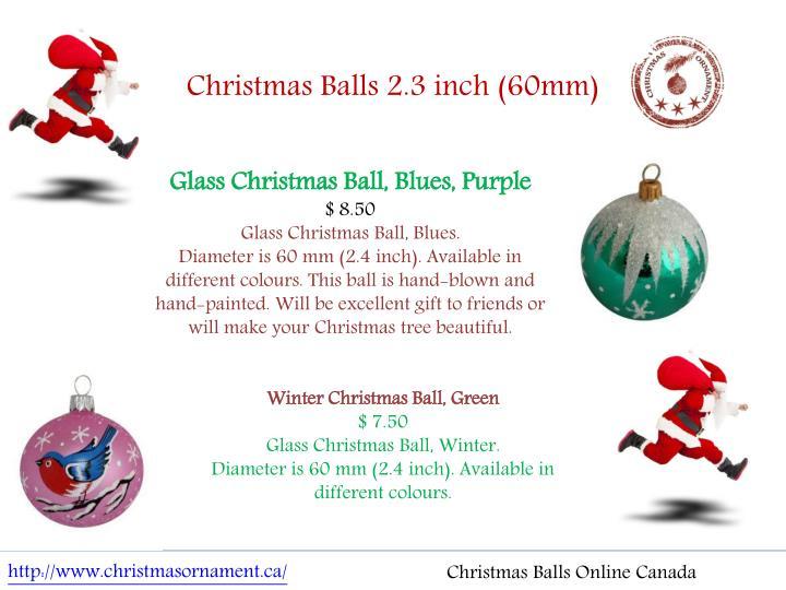 Christmas Balls 2.3 inch (60mm)