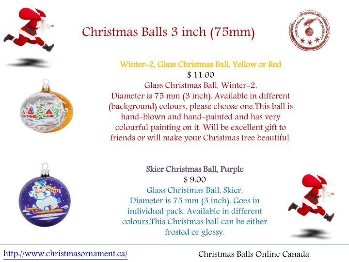 Christmas Balls 3 inch (75mm)