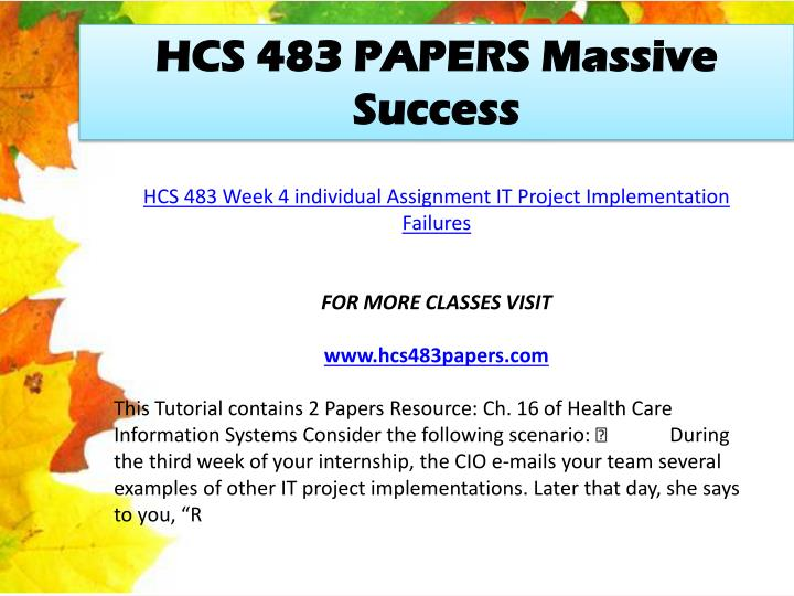 hcs week 3 individual powerpoint Hcs 551 week 3 individual assignment comparing cognitive create a 7- to 10-slide microsoft® powerpoint® presentation with speaker notes that illustrates the.