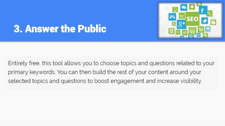 3. Answer the Public