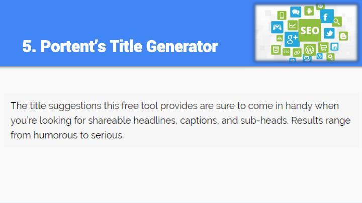 5. Portent's Title Generator