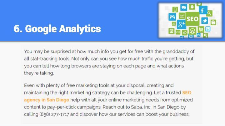 6. Google Analytics