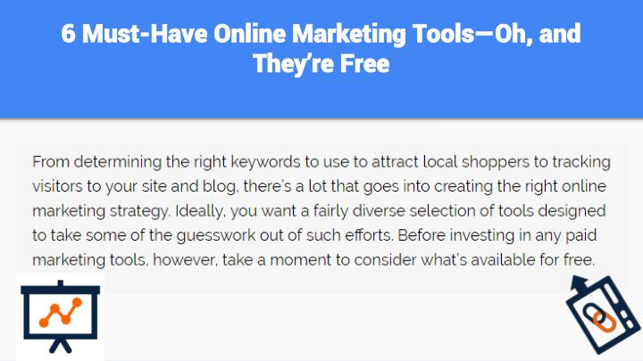 6 must have online marketing tools oh and they re free1