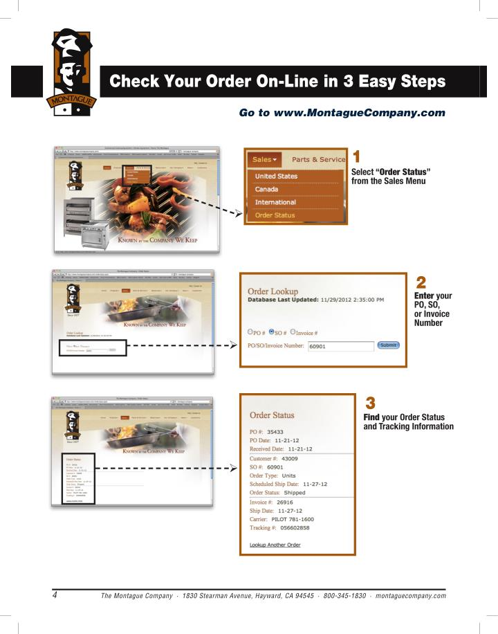 Check Your Order On-Line in 3 Easy Steps