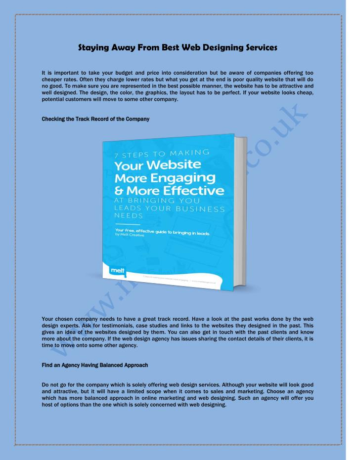 Staying Away From Best Web Designing Services