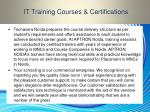it training courses certifications