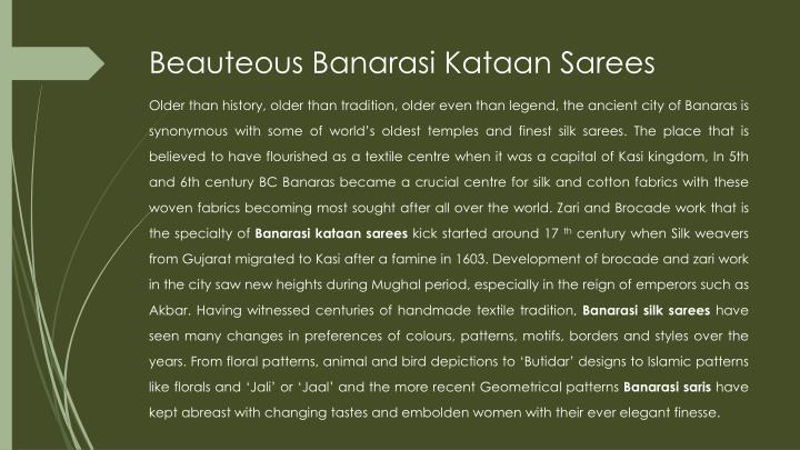 Beauteous banarasi kataan sarees