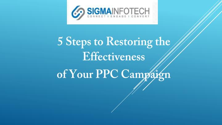 5 Steps to Restoring the Effectiveness