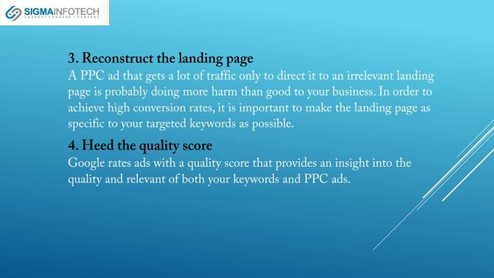 3. Reconstruct the landing page