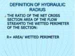 definition of hydraulic radius