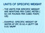 units of specific weight