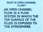 what is open channel flow