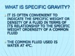 what is specific gravity